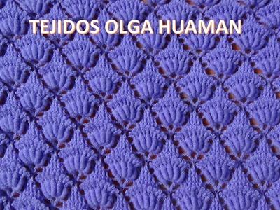 Chal tejido a crochet en punto rococo y relieve video 2