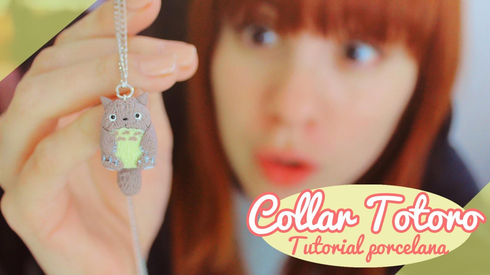♡ Collar de Totoro!. Tutorial porcelana en frío ♡ By Piyoasdf