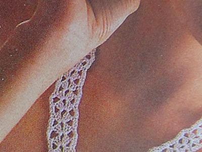 Collar y aretes a crochet flor en anilla