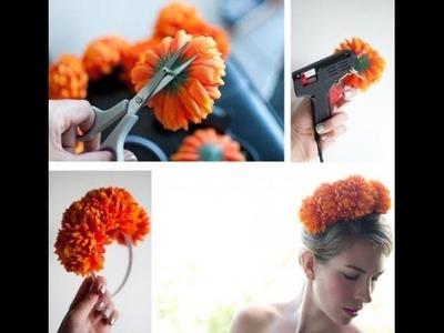 Como hacer diadema de flores