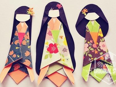 Cómo hacer Muñeca de Papel Japonesa. Japanese Paper Doll [DIY]