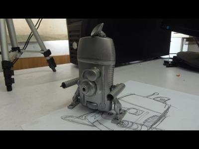 Como hacer un juguete con material reciclado - Robot