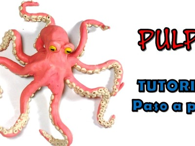Como hacer un pulpo de Plastilina. How to make an octopus with Plasticine