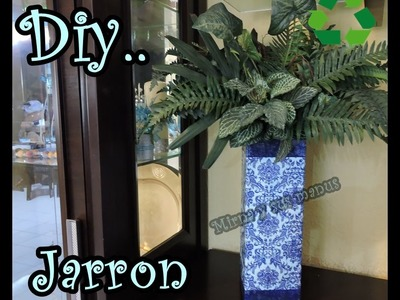 Como realizar un jarron de Carton. How to make a vase of cardboard