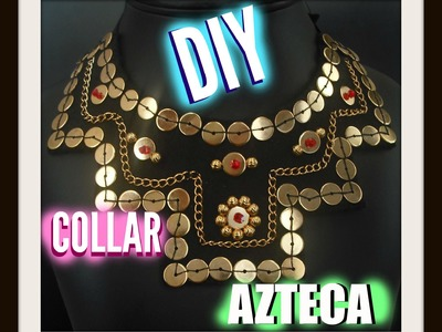 DIY collar azteca