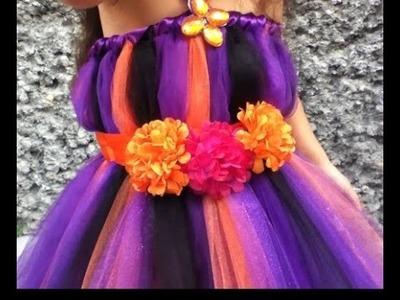 DIY vestido bruja TUL HALLOWEEN día de muertos sin coser fácil
