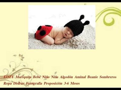 EOZY Mariquita Bebé Niño Niña Algodón Aminal Beanie