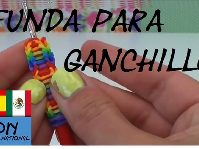 FUNDA GANCHILLO - LAPIZ - CON GOMITAS - PENCIL GRIP - SIN TELAR - TUTORIAL EN ESPAÑOL - DIY