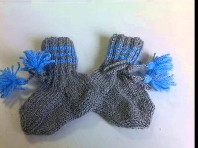 Guantes y calcetines tejidos a dos agujas para niños