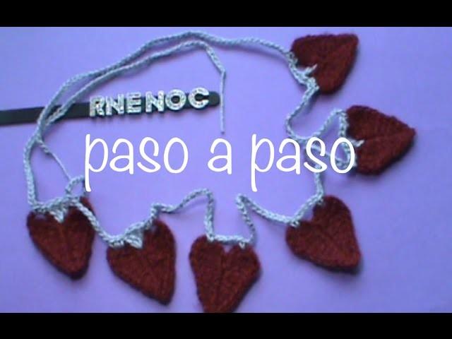 Guirnalda Corazones 3 opciones #Ganchillo, #Crochet Garland of Hearts DIY
