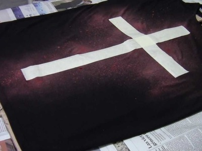 HOW TO: Bleached Cross T-Shirt