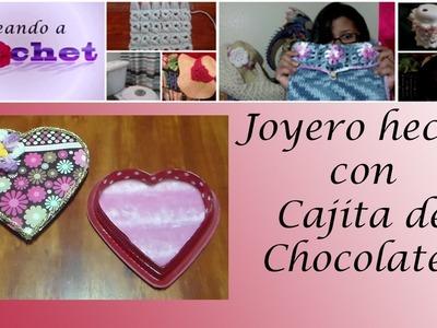 Joyero hecho con Cajita De Chocolate