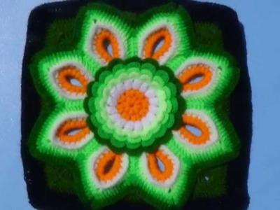 Muestras de tejidos a crochet para colchas de colores