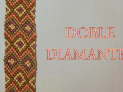 Pulsera de Hilo: Doble Diamantes