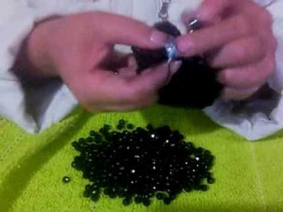Puntada para monedero tejido con cuentas parte 4