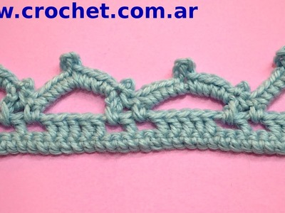 Puntilla N° 53 en tejido crochet tutorial paso a paso.