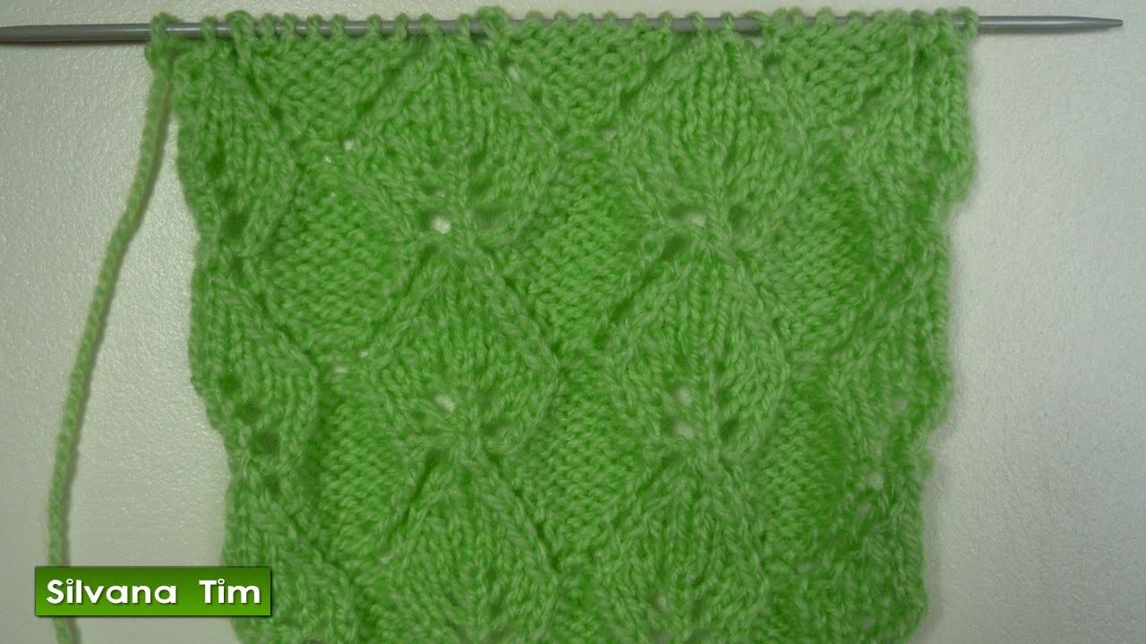 Punto puntada hojas caladas tejido con dos agujas 222 - Labores punto dos agujas ...