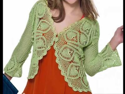 Torerita Verde Motivos Piñas  tejida a Crochet