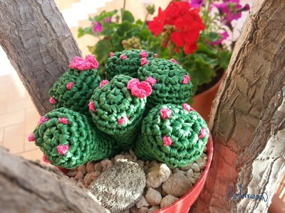 Tutorial crochet.ganchillo cactus dedo parte 2