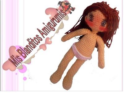 Tutorial crochet patrón braguitas muñeca Lilia amigurumi