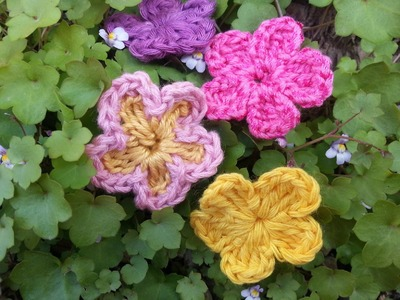 Tutorial flor básica de crochet.ganchillo