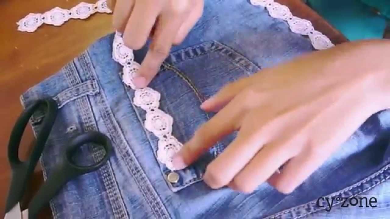 Un DIY para renovar unos shorts de jean con Karlita!