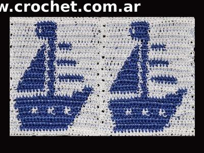 Unión del Motivo N° 13 en tejido crochet paso a paso.
