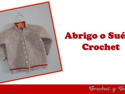 Abrigo o Suéter crochet (ganchillo) para Bebé parte 2