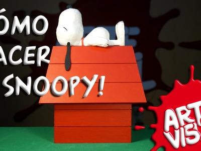 ARTE VISUAL - CÓMO HACER A SNOOPY DE CHARLIE BROWN #Peanuts