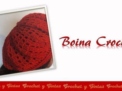Boina crochet (ganchillo) para mujeres -  Parte 2