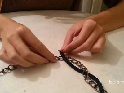 Cómo hacer un collar reciclando una cadena | facilisimo.com
