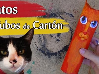 Cómo hacer un Gato con Tubos de Cartón