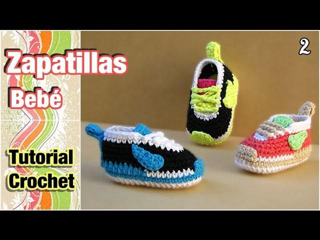 Cómo tejer Zapatillas, patucos, escarpines para bebé a crochet (2 de 2)
