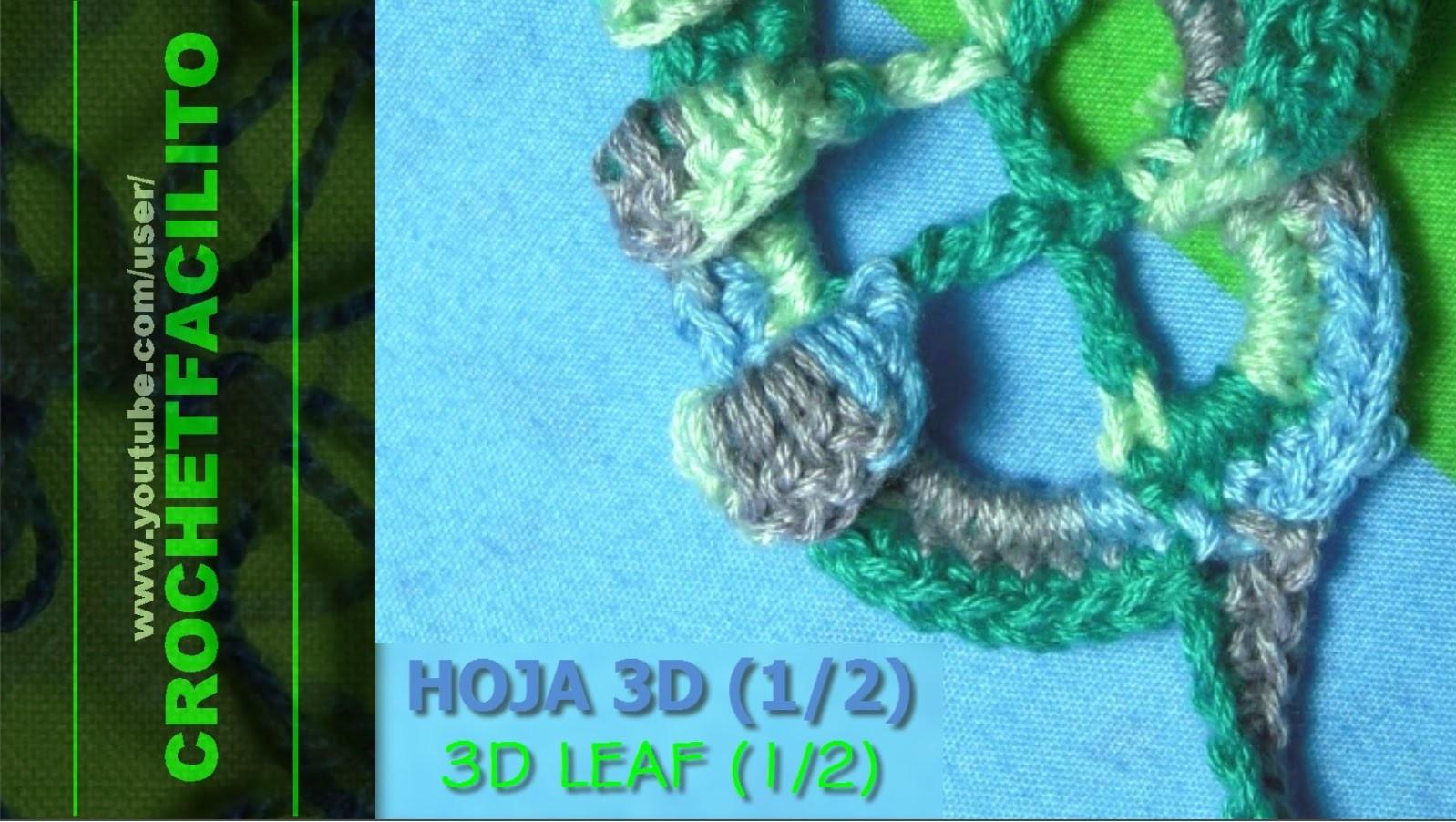 CROCHET - HOJA 3D (1.2) - 3D LEAF (1.2)