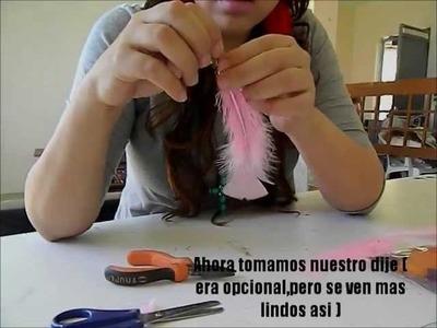 DIY-Aretes de Plumas