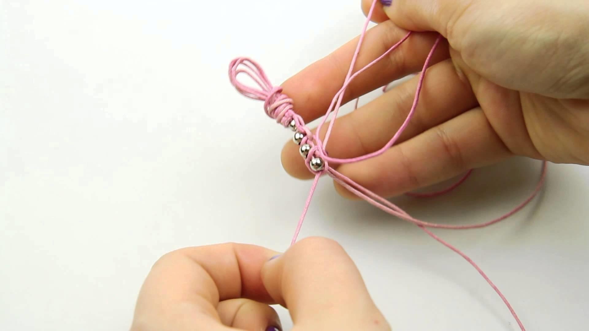 DIY Pink Knots Bracelet