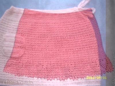 Falda corte recto tejido a crochet para niñas