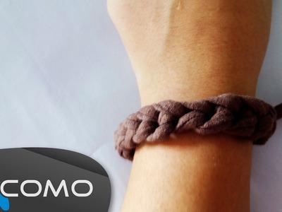 Hacer una pulsera de cadenetas con ganchillo