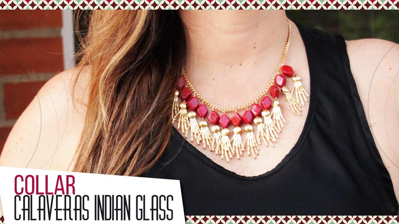 Kit 26073 Como hacer collar en Indian Glass y dijes   VARIEDADES CAROL