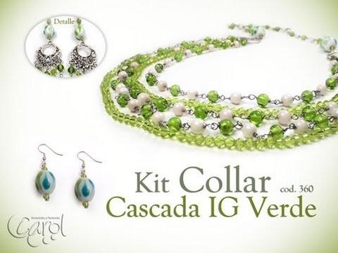 KIT 360 Kit collar cascada IG verde x und