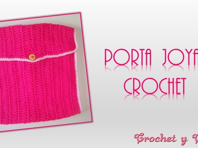 Organizador o porta joyas tejido a crochet (ganchillo)