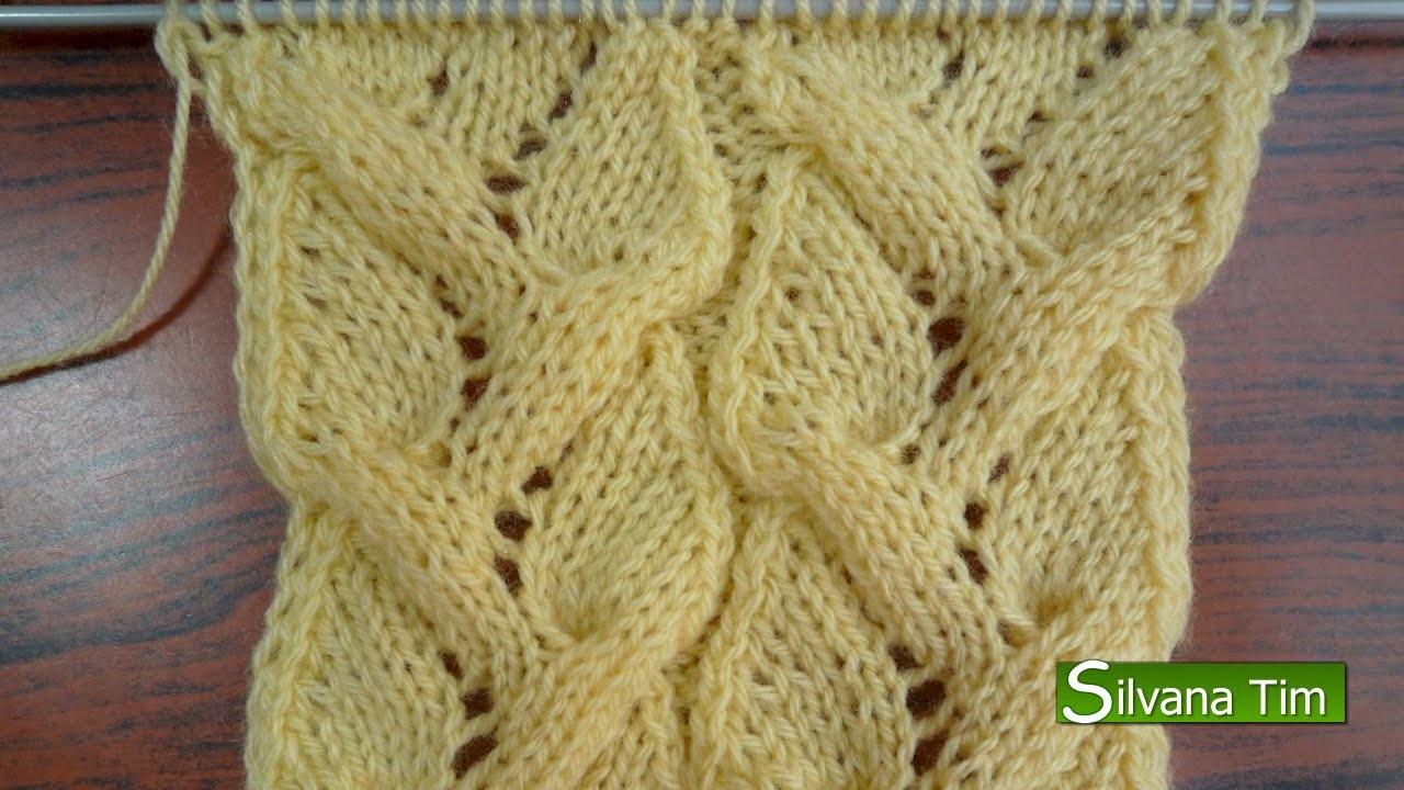 Punto trenza calada tejido con dos agujas 105 - Puntos faciles para tejer con dos agujas ...