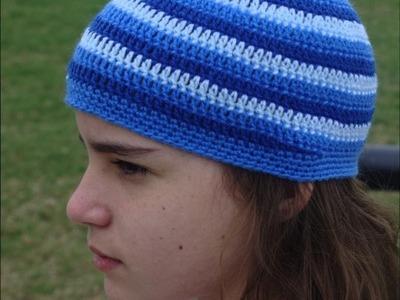 Tejiendo un gorrito con tres colores en crochet parte 1
