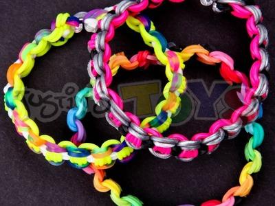 Tutorial para hacer una pulsera Bicycle Chain. Cadena de Bicicleta con gomitas elásticas
