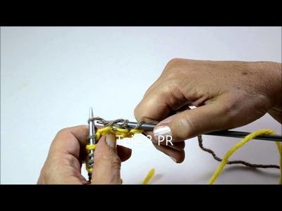 Tutorial para tejer Punto Mosaico - Pearl Knitter