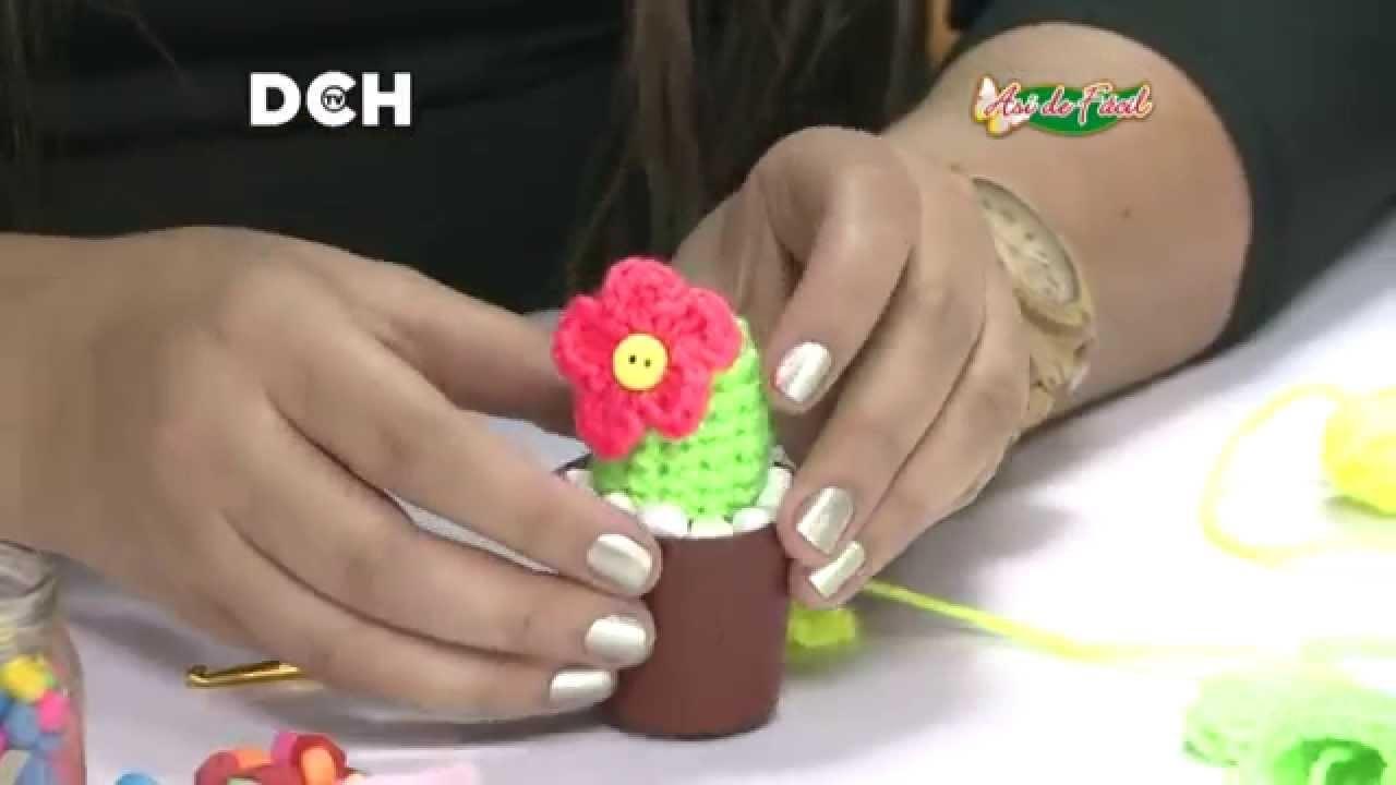 Amigurumi crochet angelius :Tutorial de cactus alfiletero en Así de Fácil