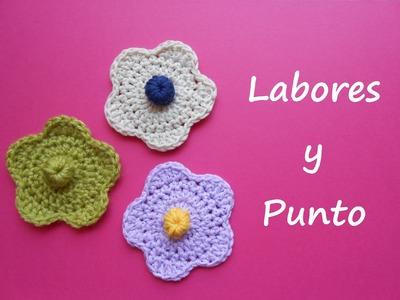 Aprende a tejer una flor sencilla a ganchillo o crochet