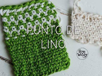 Aprende el Punto de Lino en uno y dos colores (dos agujas)