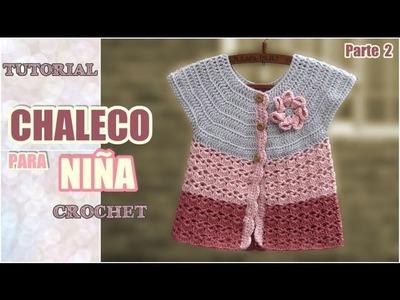 Chaleco para niña tejido a crochet (2 de 2)