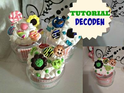 Como decorar tarros de cristal con decoden